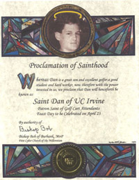 Canonization Certificate for Saints